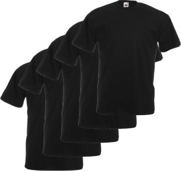 5er Pack Fruit of the Loom T Shirt schwarz   S M L XL XXL XXXL
