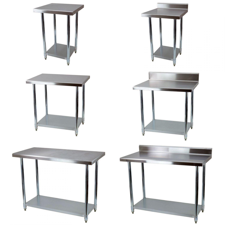 edelstahl arbeitstisch edelstahltisch mit oder ohne aufkantung oder zusatzbord ebay. Black Bedroom Furniture Sets. Home Design Ideas
