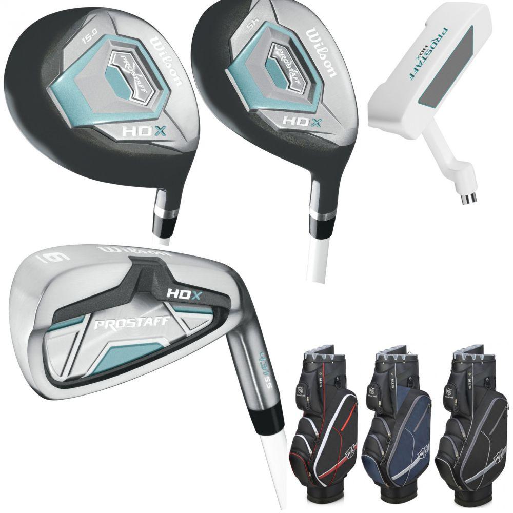damen wilson prostaff hdx golf komplettset 2018 golfset golfschl ger i lock bag ebay. Black Bedroom Furniture Sets. Home Design Ideas