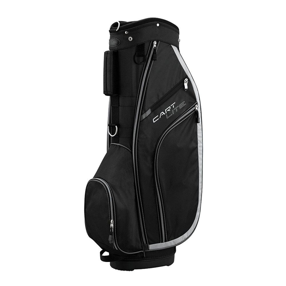 wilson pro staff lite golfbag trolley cart bag golftasche schwarz grau ebay. Black Bedroom Furniture Sets. Home Design Ideas