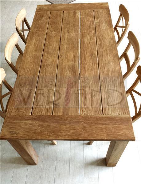 Esstisch Teakholz Massiv rustikal Tisch Teak Holz 100 x 200 cm