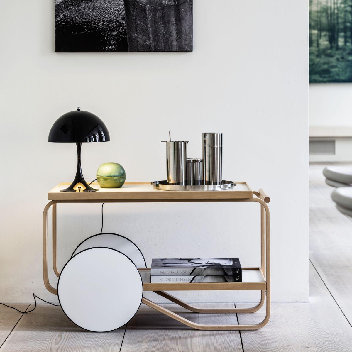 louis poulsen panthella mini tischleuchte schwarz a ebay. Black Bedroom Furniture Sets. Home Design Ideas