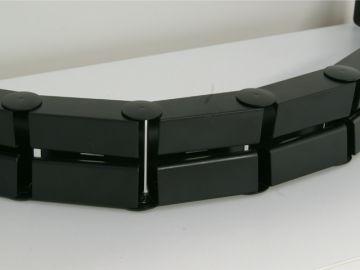 kabelbinder kabelbr cke grap schwarz f r b ro schreibtisch computer gliederkette ebay. Black Bedroom Furniture Sets. Home Design Ideas