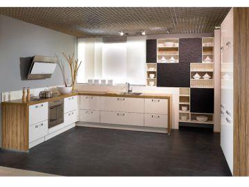 alno wellmann l k che wei hochglanz zeta inkl e ger te musterk che fotok che ebay. Black Bedroom Furniture Sets. Home Design Ideas