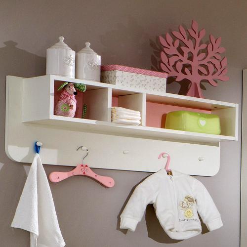 NEU* Babyzimmer Wandboard in weiß - rosa Regal Hängeregal
