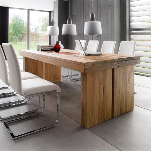 *TOP* Exkl.180cm Esszimmertisch Eiche massiv bassano Esstisch Esszimmer Tisch  eBay