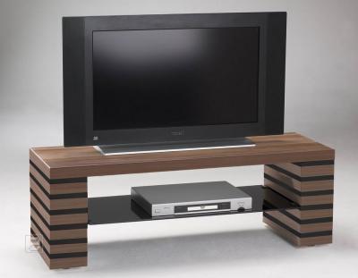 NEU* Lowboard TV-Schrank HIFI - Rack Nussbaum / schwarz  eBay