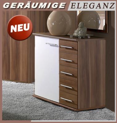 Kommode Nussbaum Weiss 2021