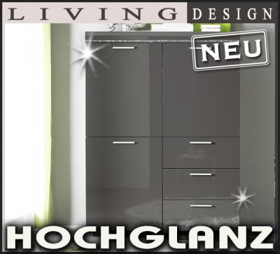 Kommode Anthrazit Hochglanz 2021