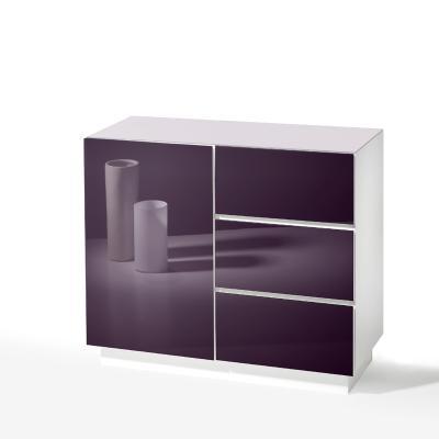 Kommode Weiß Glasfront 2021