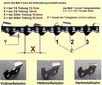 "3x original Stihl RM Sägekette 37 cm 1,6  mm 3//8/"" HALBMEISSEL"