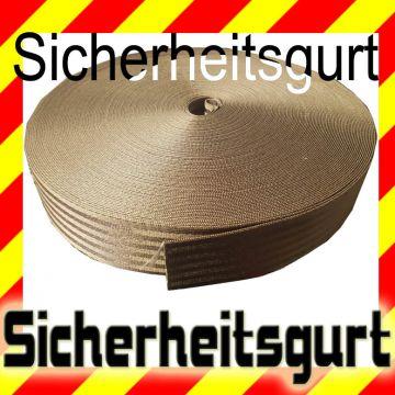 Sicherheitsgurt Braun 48 mm, Meterware, 2900 daN, Polyester Gurt ...