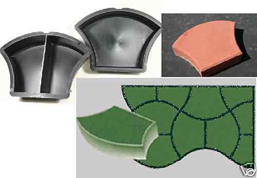 10 schalungsformen f r pflastersteine pilz nr 206 ebay. Black Bedroom Furniture Sets. Home Design Ideas