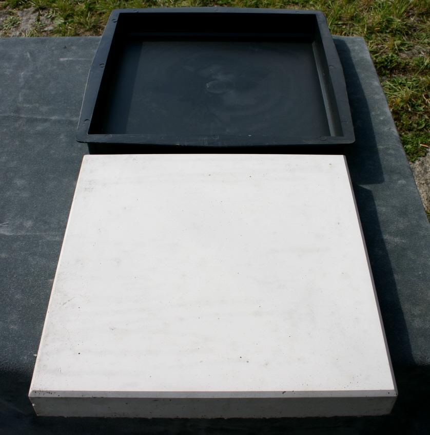 4 schalungsformen betonformen f r platten 40 x 40 x 5 cm. Black Bedroom Furniture Sets. Home Design Ideas