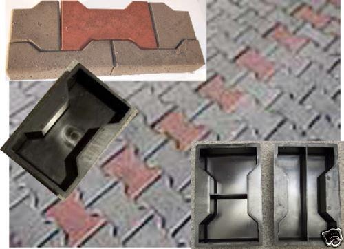 12 10 2 gie formen f r knochenpflaster h steine 8 cm st rke ebay. Black Bedroom Furniture Sets. Home Design Ideas
