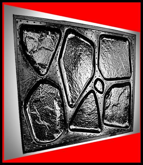 1 paar giessformen mit 16 unterschiedlichen strukturen f r polygonalsteine ebay. Black Bedroom Furniture Sets. Home Design Ideas