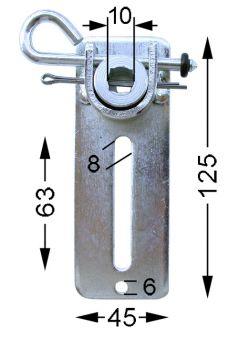 RMH Motoren Abrolllager 45 x 125 mm für 10 mm 4kt.-Achse RM RME RMF