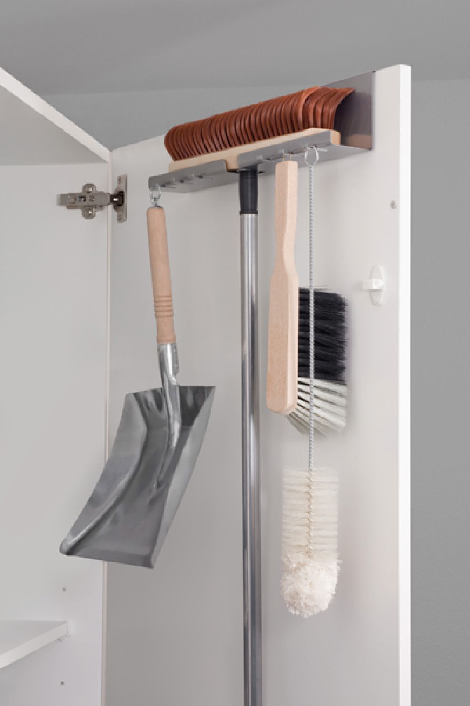 t r besenhalter schaufelhalter metall hakenleiste besen kehrblech halter t ren ebay. Black Bedroom Furniture Sets. Home Design Ideas