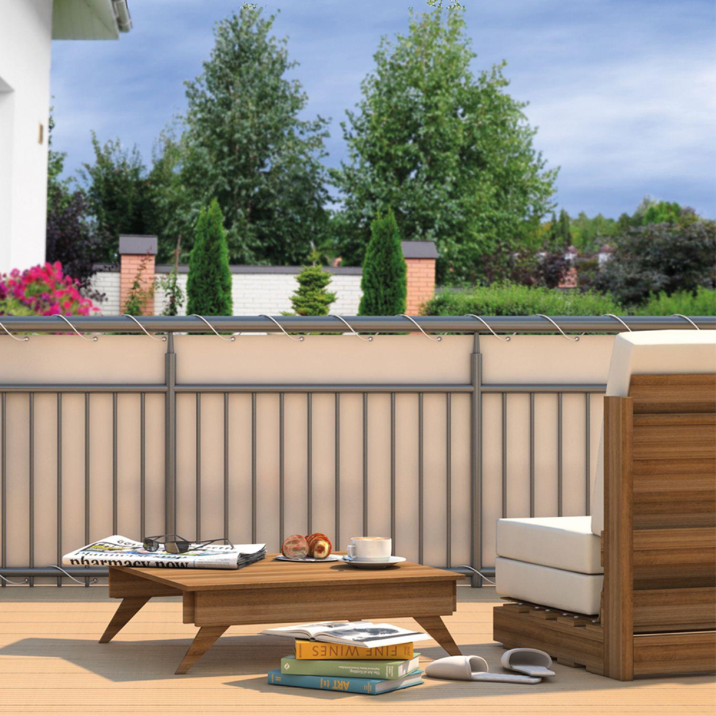 Balkon sichtschutz sonnenschutz windschutz garten zaun - Sichtschutz terrasse ohne bohren ...