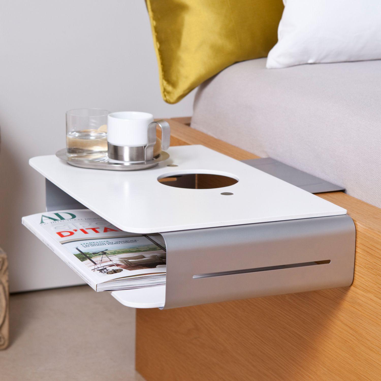 nachttisch lampentisch beistelltisch konsole nacht tisch bett ablage klemmbar ebay. Black Bedroom Furniture Sets. Home Design Ideas