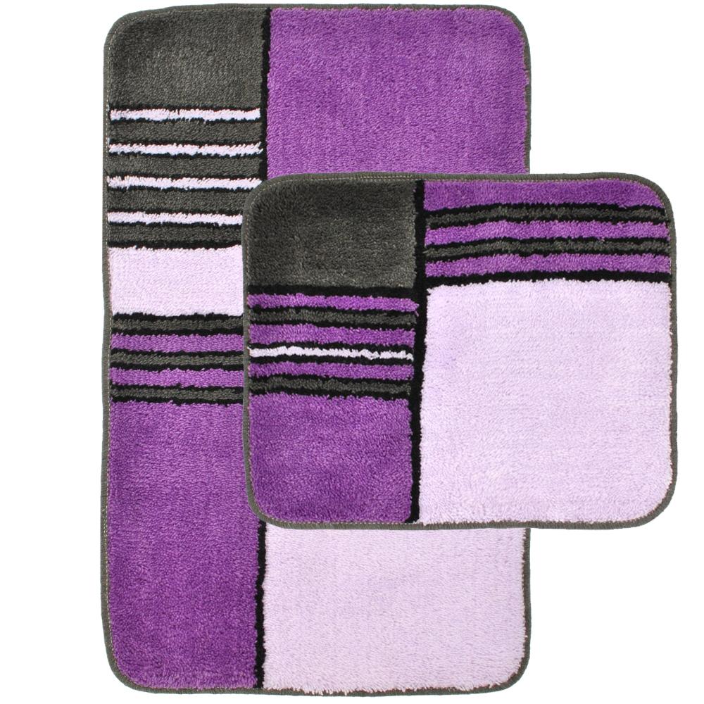 bad garnitur 2 teilig teppich badezimmer matte set badematte vorleger dusch bade ebay. Black Bedroom Furniture Sets. Home Design Ideas
