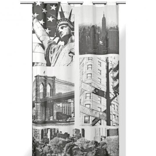 senschal new york vorhang gardine schal sen usa retro 135cm x 245cm gardinen ebay. Black Bedroom Furniture Sets. Home Design Ideas