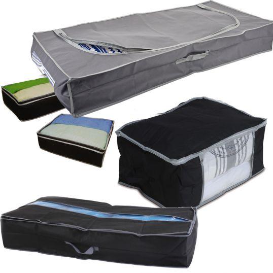 aufbewahrungstasche unterbettkommode taschen aufbewahrung unterbett kasten boxen ebay. Black Bedroom Furniture Sets. Home Design Ideas