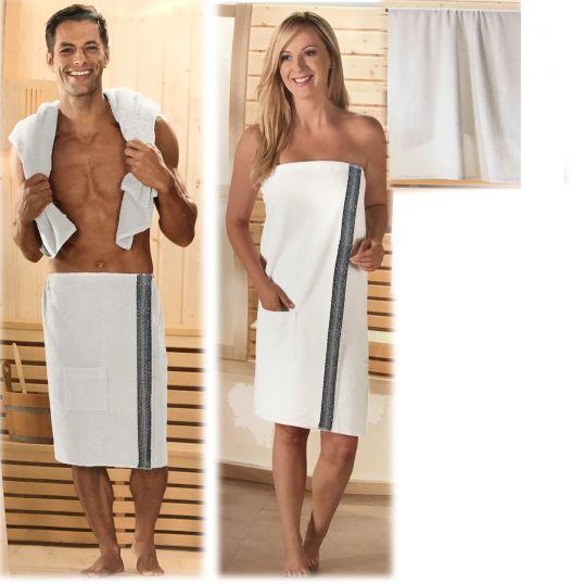 sauna set frottee sarong kilt plus saunatuch herren damen saunakilt saunasarong ebay. Black Bedroom Furniture Sets. Home Design Ideas