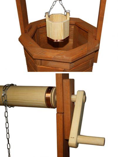 130cm holz brunnen garten deko zierbrunnen gartenbrunnen gebeizt ebay. Black Bedroom Furniture Sets. Home Design Ideas