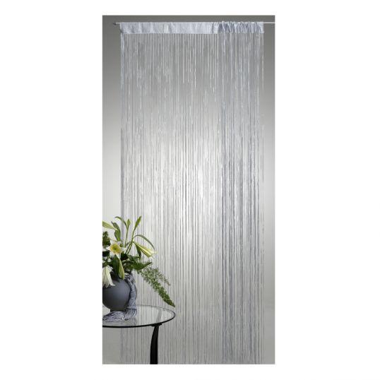 fadenvorhang lurex t r vorhang gardine schal faden fadengardine in 2 gr en ebay. Black Bedroom Furniture Sets. Home Design Ideas