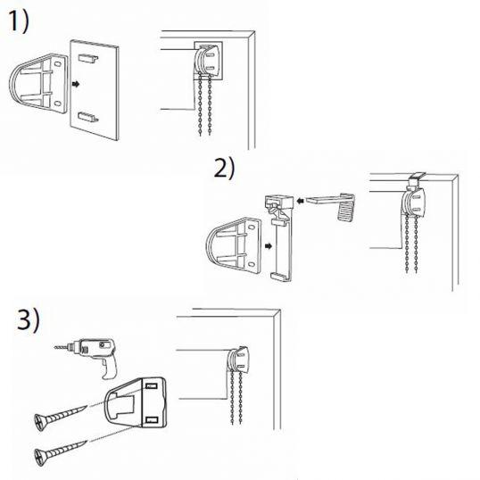 kettenzugrollo klemmfix bohren kleben oder klemmen rollo jalousien abdunkelnd ebay. Black Bedroom Furniture Sets. Home Design Ideas